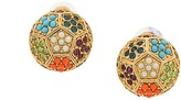 Susan Caplan Vintage 1980s Vintage D'Orlan Colourful Round Earrings