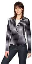 Three Dots Women's Newport Stripe Short Blazer