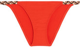 Eres Véronique Leroy Kasimira Braided Bikini Briefs - Tomato red