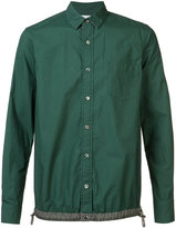 Sacai drawstring hem shirt - men - Cotton/Polyester - 2