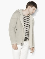 John Varvatos Hooded Shearling Jacket