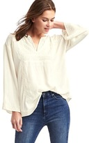 Gap Flowy embroidered top