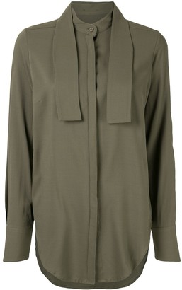 Strateas Carlucci Wrap-Neck Collar Shirt