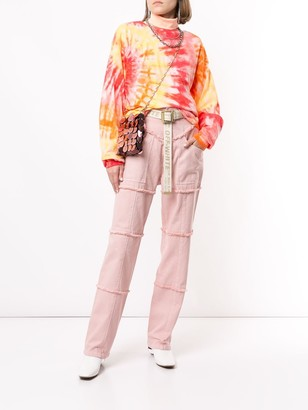 Ambush Fringed High-Rise Straight-Leg Jeans
