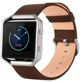 Fitbit POSH TECH Small Leather Band for Blaze with Frame - Brown