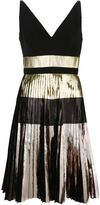 Proenza Schouler pleated metallic dress - women - Silk/Polyester/Acetate - 4