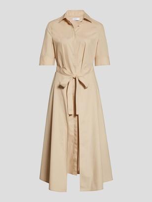 Rosetta Getty Short Sleeve Apron Wrap Midi Dress