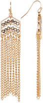 Natasha Accessories Crystal Chevron Fringe Earrings