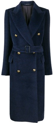Tagliatore Belted Midi Coat