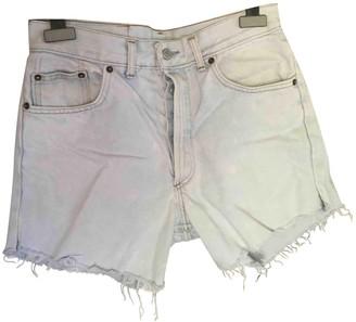 Levi's Turquoise Denim - Jeans Shorts for Women