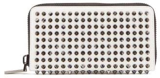 Christian Louboutin Panettone Spike-embellished Leather Wallet - Mens - White