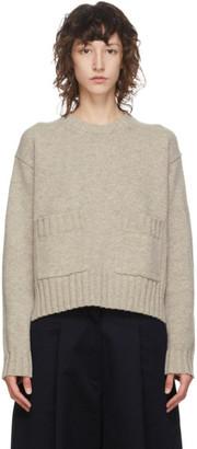 Studio Nicholson Tan Wool Nieto Cropped Sweater