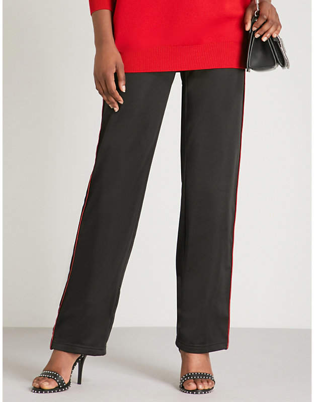 Givenchy Side-stripe straight jersey jogging bottoms