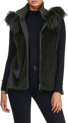 Gorski Mink Fox Fur Trim Vest