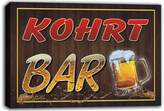 AdvPro Canvas scw3-065959 KOHRT Name Home Bar Pub Beer Mugs Stretched Canvas Print Sign