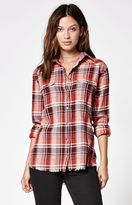 Billabong Wild Adventure Plaid Flannel Button-Down Shirt