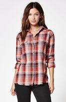 Billabong Wild Adventure Plaid Flannel Button-Down Shirt