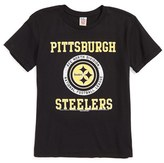 Junk Food Clothing Boy's Kick Off Pittsburgh Steelers T-Shirt