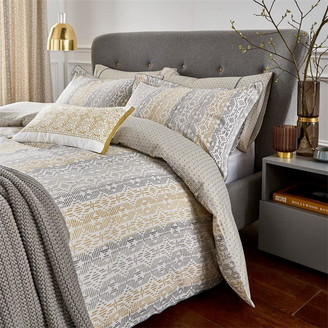 Bedeck of Belfast Satara Standard Pillowcase Greychartreuse