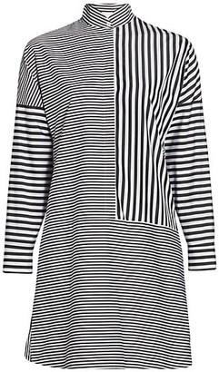 Akris Punto Striped Kimono Poplin Shirtdress