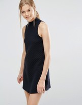 Abercrombie & Fitch High Neck Drop Waist Dress
