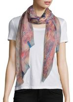Etro Dhely Water Color Psly Scarf