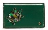 Tory Burch Turtle Burch Medium Slim Wallet