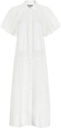 Lee Mathews Elsie puff-sleeve cotton maxi dress
