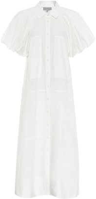 Lee Mathews Elsie puff-sleeve cotton maxi dress