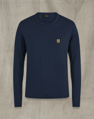Belstaff LONG SLEEVED T-SHIRT navy
