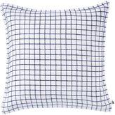 Lacoste Chevron Printed Linen Square Throw Pillow in Blue/White