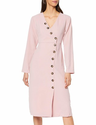 Lost Ink Women's MIDI Dress with Contrast Buttons