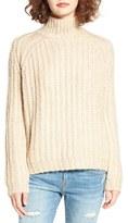Blank NYC Women's Blanknyc Mock Neck Sweater