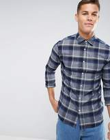 Selected Regular Fit Shirt In Brushed Check Flannel