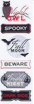 Martha Stewart Halloween Labels Stickers Owl Full Moon 6 Per Package