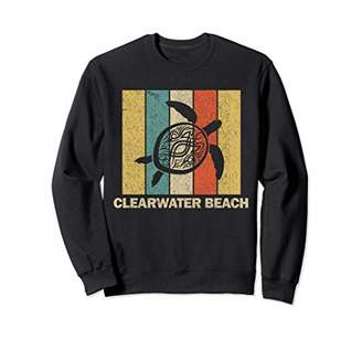 Clearwater Beach Florida Retro 80s Tribal Sea Turtle Sweatshirt