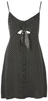 Topshop PETITE Pinstar Knot Mini Slip Dress