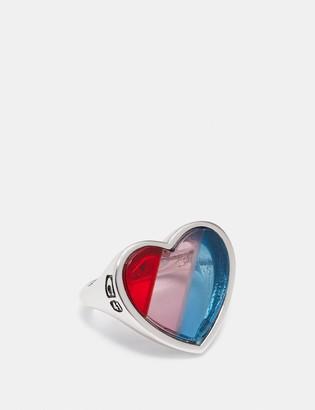 Coach Rainbow Heart Stone Ring