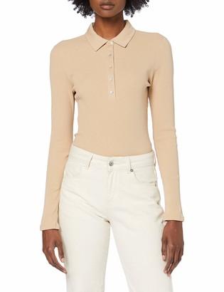 Only Women's Onlhenna L/s Polo Rib Top JRS Shirt