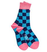 Thomas Pink Gingham Socks