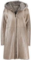 Manzoni 24 fur-trimmed coat