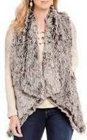 Democracy Drape Front Faux Fur Vest