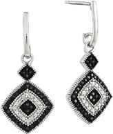 FINE JEWELRY 1/3 CT. T.W. White and Color-Enhanced Black Diamond Sterling Silver Drop Earrings