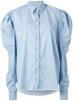 Marques Almeida Marques'almeida - puff sleeve chambray shirt - women - Cotton - XS