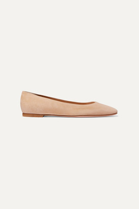 Gianvito Rossi Suede Ballet Flats - Neutral