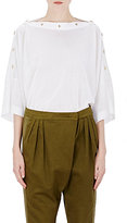 Givenchy Women's Bateau Snap Sweater-WHITE