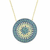 Cosanuova Gold Flat Turquoise Disc Necklace