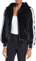 Baldan Amanda Christy Star-Intarsia Faux-Fur Bomber Jacket
