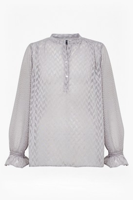 French Connection Corsica Sheer Pop Over Blouse