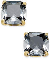 Kate Spade Gold-Tone Aqua Crystal Stud Earrings